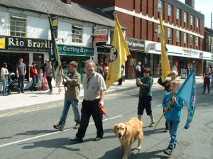 Nigel (Baloo) leading the procession