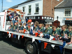 Mercia Cubs in the procession