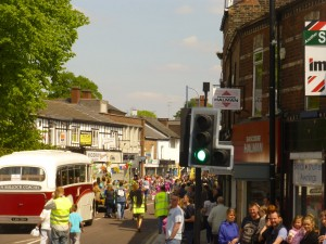 The procession in the High Street